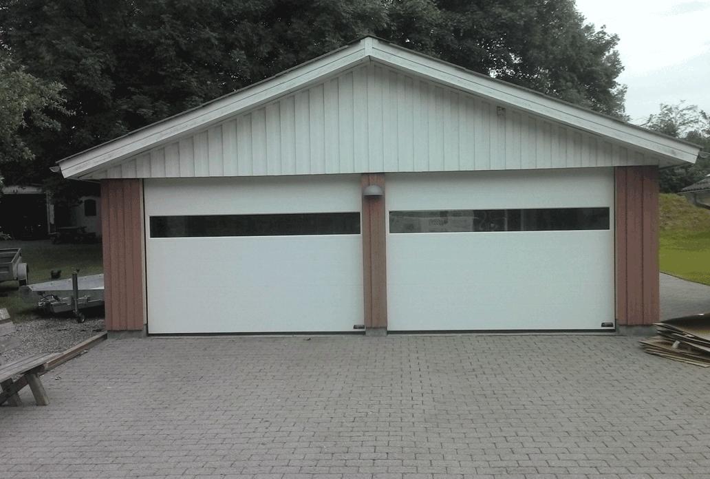 Garagedeur met ramen
