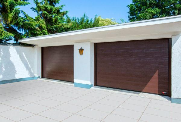 Garagedeur woodgrain