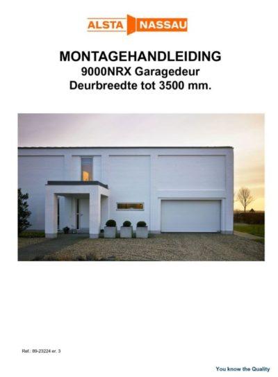 Montagehandleiding garagedeur