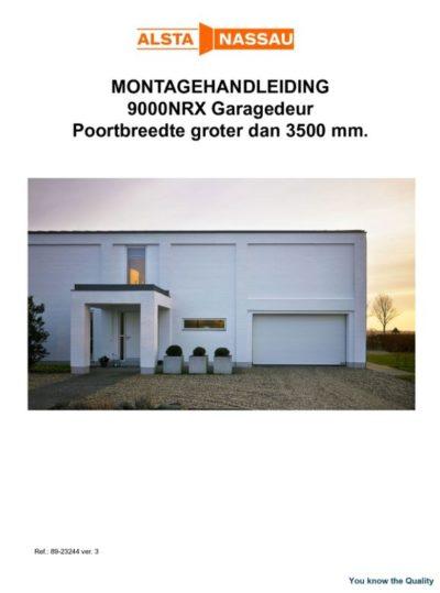 Handleiding garagedeur
