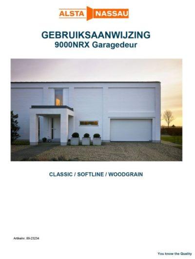 Gebruiksaanwijzing garagedeur