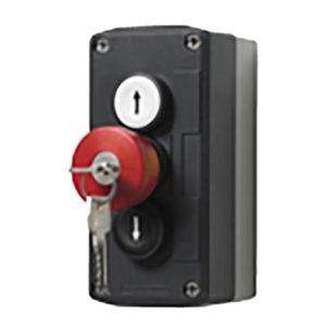 3 knops drukknop met sleutel