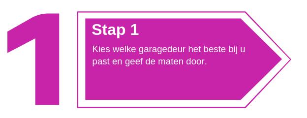 Garagedeuren stap 1